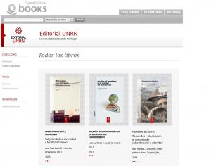 Editorial UNRN, en el portal francés OpenEdition